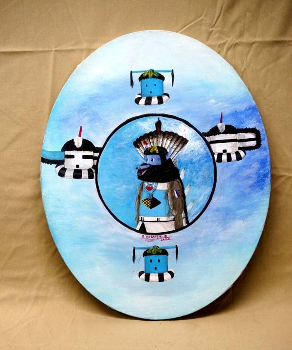 2005 Zuni Original Painting on Canvas by B. Yatsattie