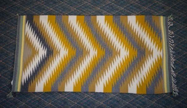 Navajo Serrated Diamond Rug by Ella Mae Joe