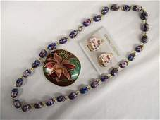 Collection of Cloisonne Enamel Jewelry