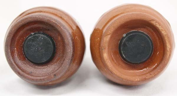 Bulgarian Troyan  Redware Pottery Condiment Set - 6
