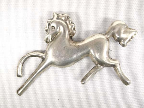 Mexican Sterling Silver Horse Pin