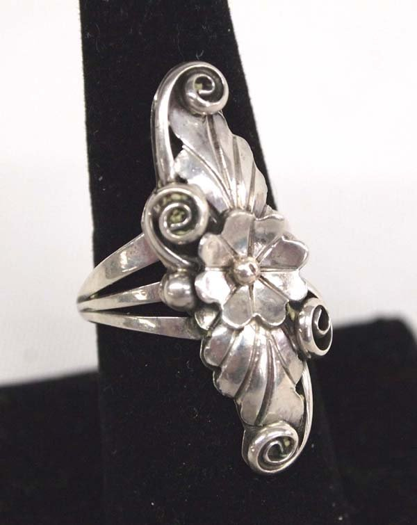 Navajo Sterling Ring by Robert Becenti, Size 8.75