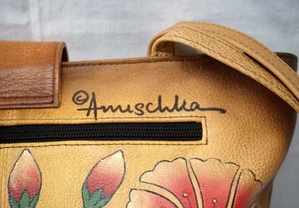 Anuschka Leather Hand Painted Purse - 3