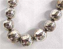 Taxco Sterling Silver Bead Necklace