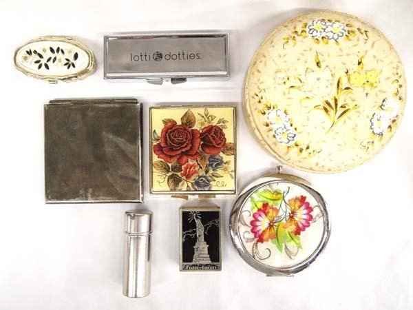 Collection of Vintage Compacts and Boxes