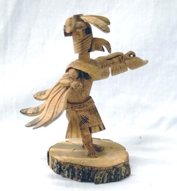 Navajo Carved Aspen Eagle Kachina by R. Platero