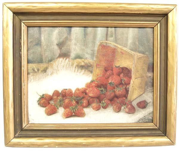 Classical Americana Strawberry Oil Painting