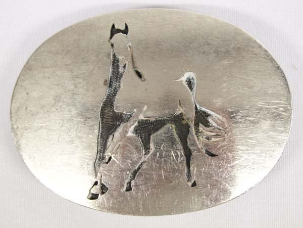 Hopi Horse Buckle by D. Coats Taos NM