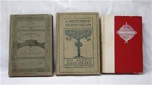 3 Antique Books Longfellow Shakespeare Scott