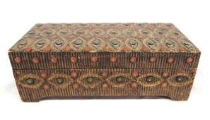 Carved & Painted Jewelry Box.