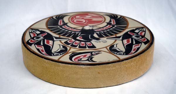 Northwest Coast Indian Drum by Clarence A. Wells - 2