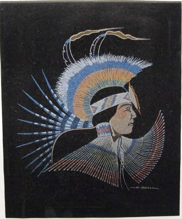 Cheyenne Silkscreen by Archie Blackowl 1911-1992