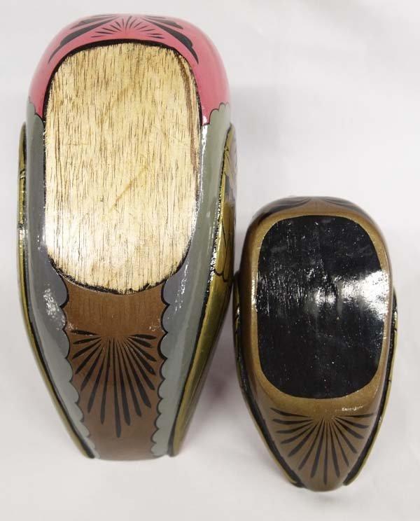 Pr Hand Painted Wooden Ducks - 3