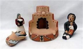 Collection of Pueblo Pottery Figurines
