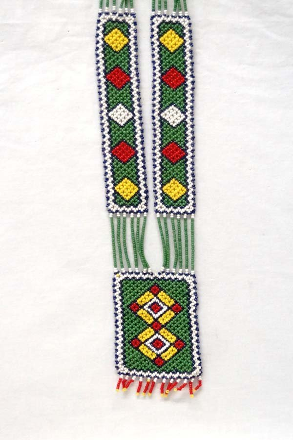 Vintage Rosebud Sioux Reservation Beaded Necklace
