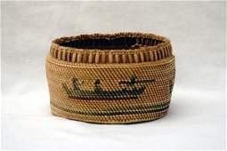 Native American Northwest Coast Makah Basket