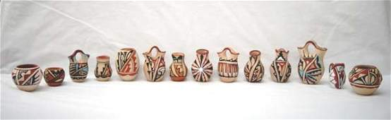 Collection of Native American Pottery Miniatures