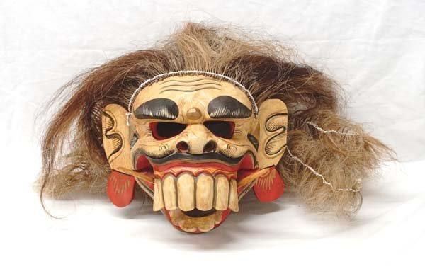 Balinese Barong Mask with Articulated Jaw