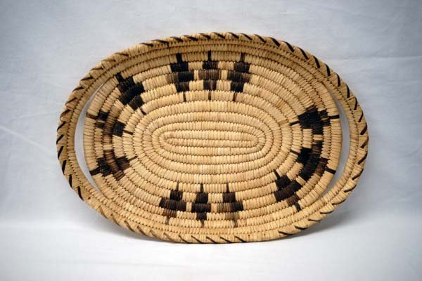Native American Tohono O'odham Basketry Tray