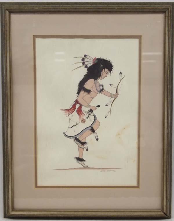 Original Cochiti Watercolor by Justino Herrera