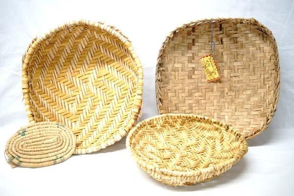 4 Native American Baskets