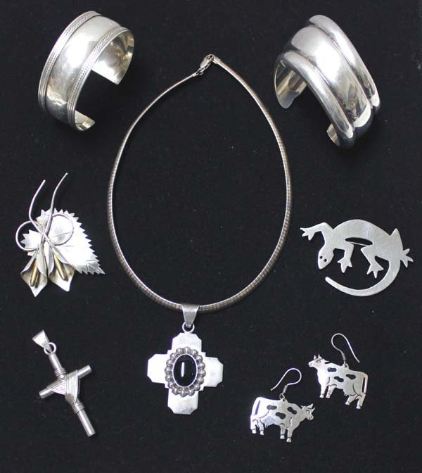Collection of Mexican Taxco Sterling Jewelry