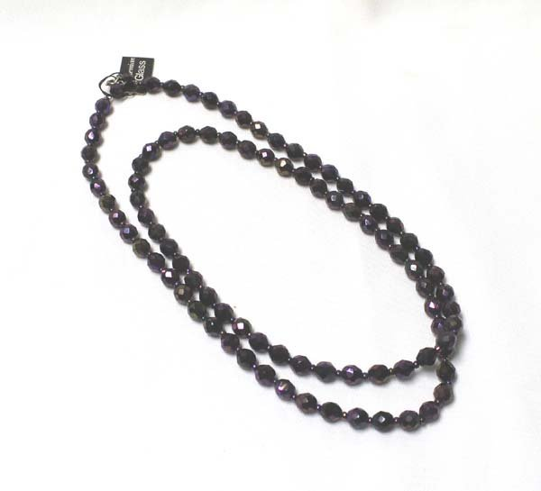 Iridescent Bohemian Glass Bead Necklace