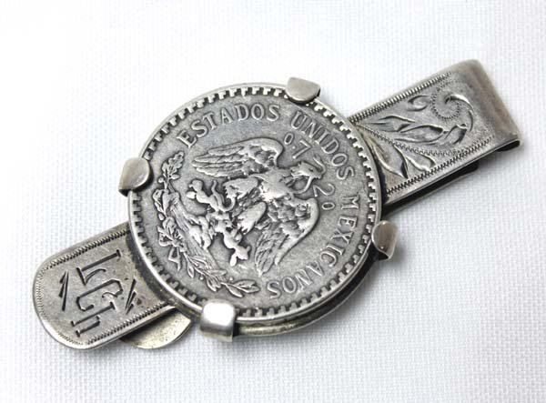 Sterling Silver Mexican Coin Money Clip