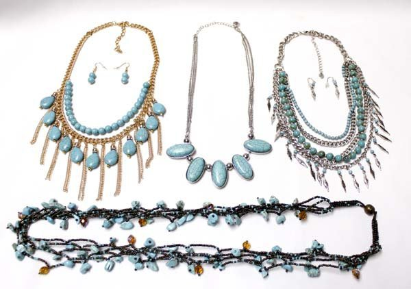 Collection of Faux Turquoise Costume Jewelry
