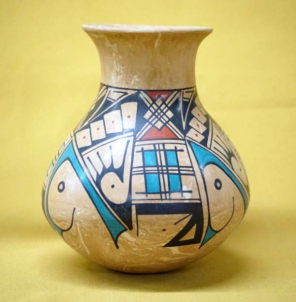 Mata Ortiz Polychrome Jar by Lorena Gonzalez Rios