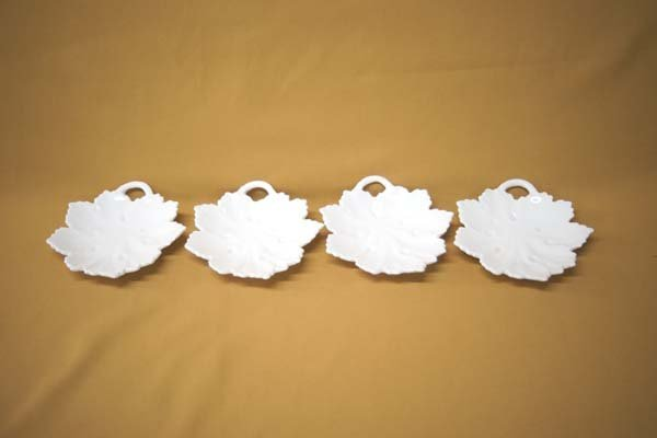 4 Western German Fine Porcelain Nappy Dishes