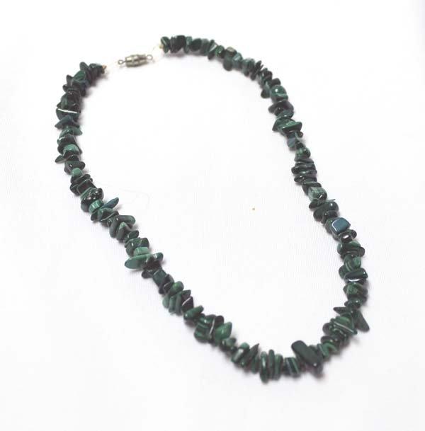Vintage Navajo Malachite Nugget Necklace
