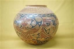 Mata Ortiz Mayan Design Jar by Daniel Gonzalez