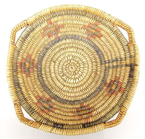 Rare Vintage Tri-Colored Apache Ceremonial Basket