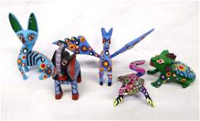 5 Mexican Oaxacan Alebrije Animals All are Signed