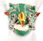 Mexican Ceremonial Pottery Chicken Nose Mask