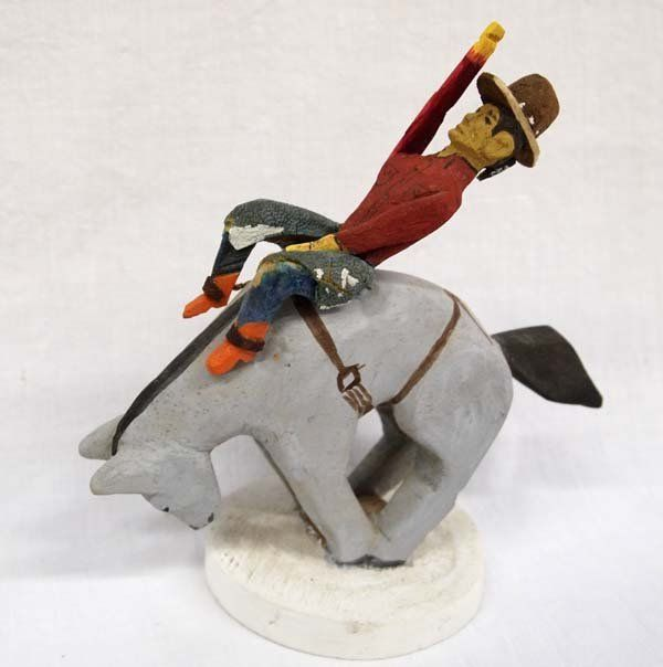 1992 Navajo Folk Art Bronc Rider, Johnson Antonio