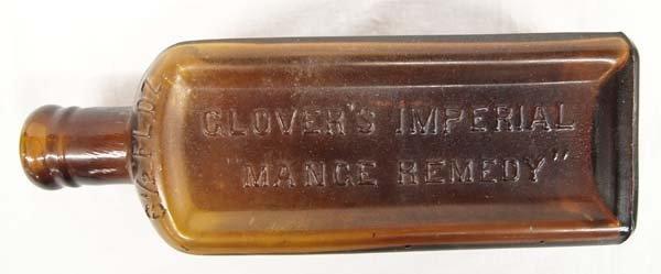 Antique H. Clay Glover D.V.S. Mange Remedy Bottle