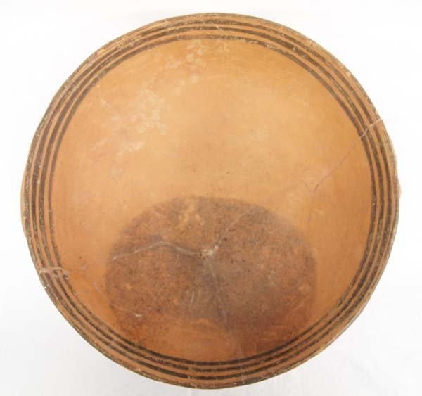 Prehistoric Mogollon Red Terra Cotta Handled Bowl