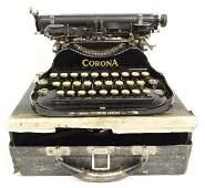 Antique Corona No3 Folding Typewriter with Case