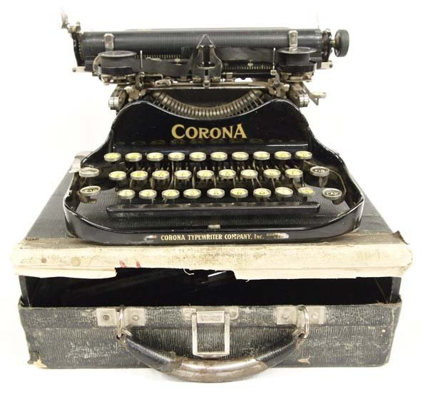 Antique Corona No.3 Folding Typewriter with Case