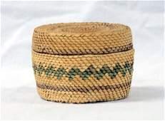 Estate Native American Makah Lidded Basket