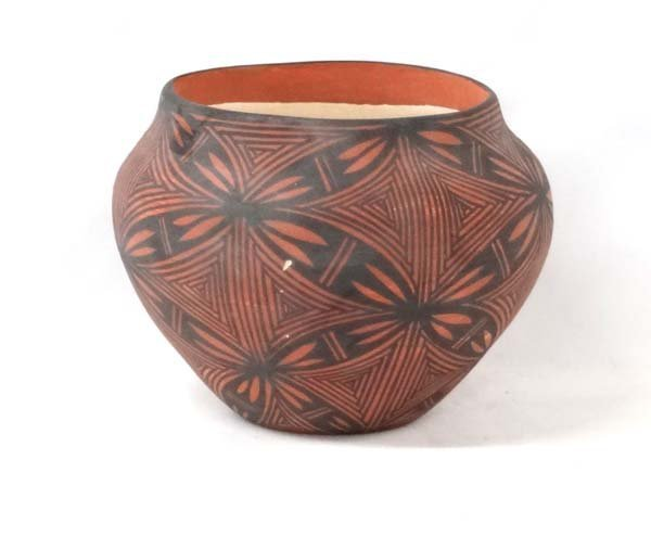 Acoma Traditional Hand Painted Pottery Jar