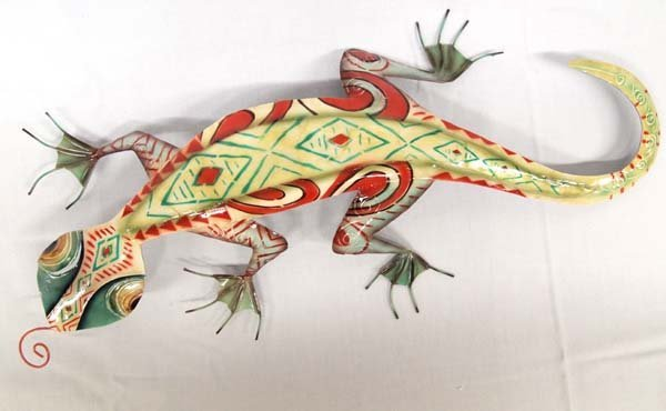 Metal Wall Art Gecko