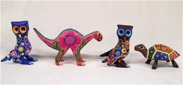 4 Mexican Oaxacan Alebrije Animals
