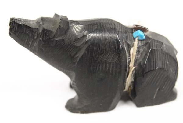Native American Navajo Carved Black Bear Fetish