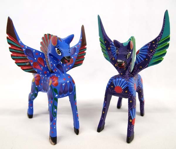 Pair of Mexican Oaxacan Pegasus Alebrijes