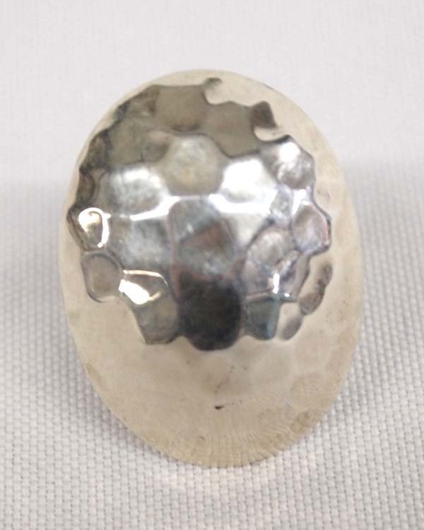 Navajo Hammered Sterling Silver Ring, Size 7.25