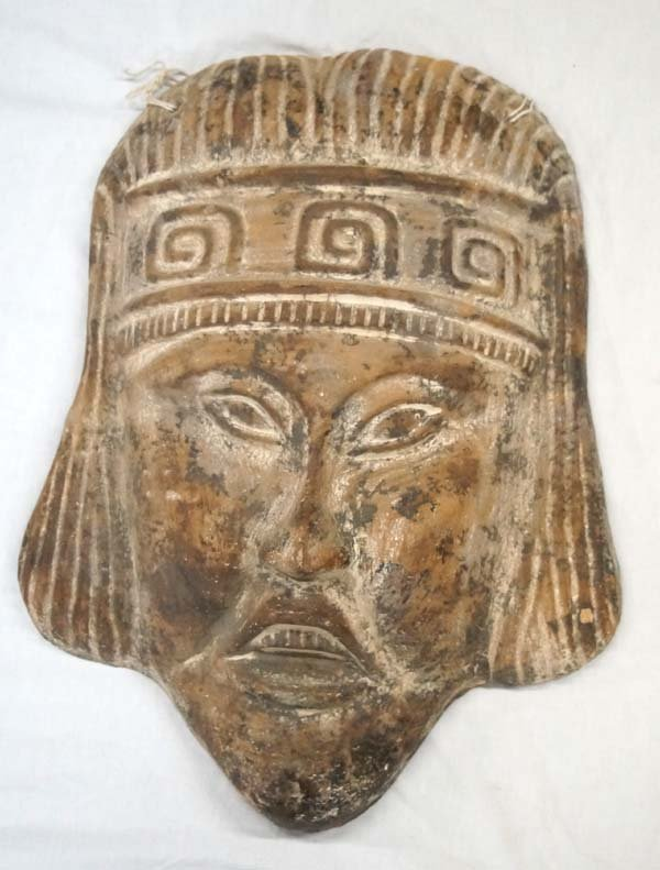 Large Mexican Pottery Mask