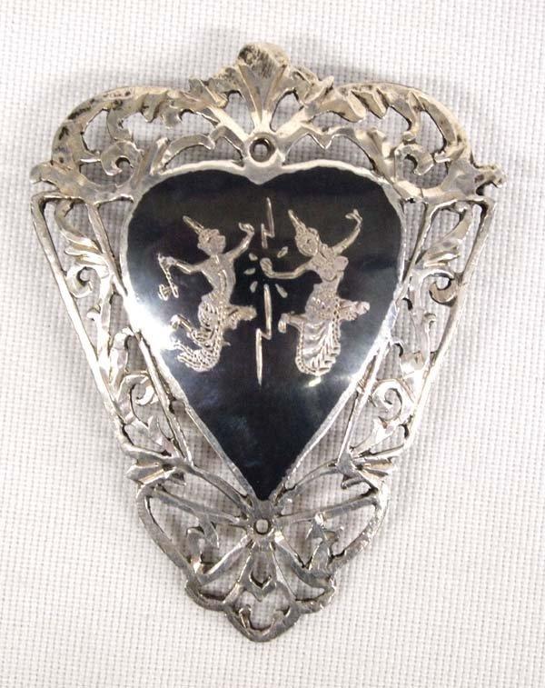 Siamese Sterling Silver Pin